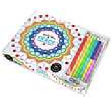 Vive Le Color! Peace (Adult Coloring Book and Pencils): Color Therapy Kit