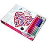 Vive Le Color! Energy (Adult Coloring Book and Pencils): Color Therapy Kit