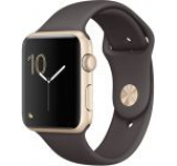 Smartwatch Apple Watch 2 Sport, Retina OLED Capacitive touchscreen 1.65inch, Bluetooth, Wi-Fi, Bratara Silicon 42mm, Carcasa Aluminiu, Rezistent la apa si praf (Argintiu/Maro)