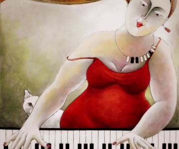Pisici, femei in stil cubist, cu Carla Raadsveld