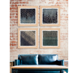 Tablou 4 piese Framed Linen Abstract Marks