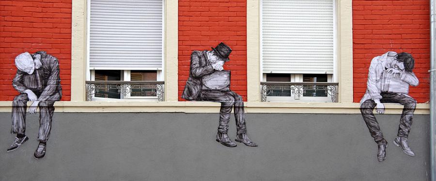 Ilustratii satirice pe strazile Parisului - Poza 9