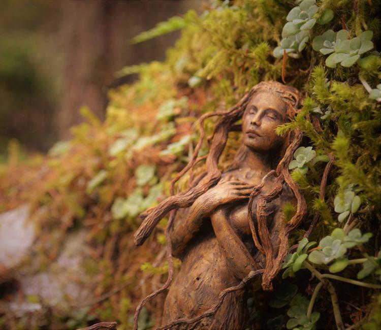 Spiritele naturii: Sculpturi himerice gingase - Poza 2
