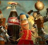 Istoria Coca-Cola, in reclame