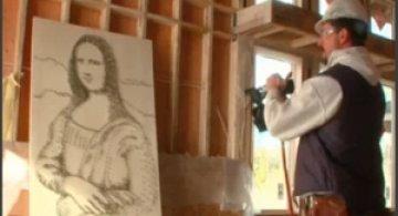 Mona Lisa, din cuie?