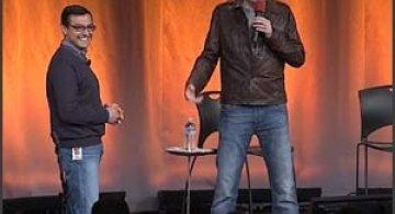 Vizita comica a lui Conan O'Brien la Google