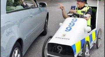 Masina de politie cu pedale
