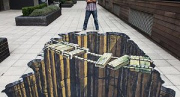 25 de desene 3D pe asfalt