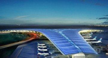 Aeroportul cu vele acostat in Kuweit