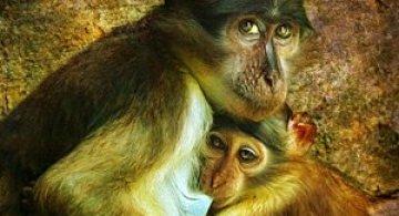 Portret cu uliu, leopard si maimuta de Joaquin Granell