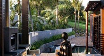 Casa-peisaj, intr-un golf din Noua Zeelanda