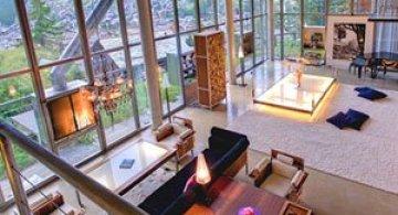 Cabana din Alpi ca un penthouse in Manhattan