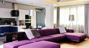 Apartament multicolor la Odessa
