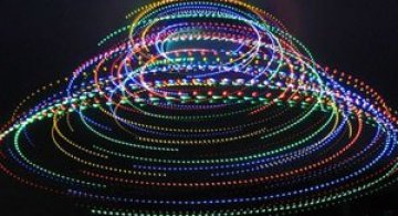 Craciun creativ: luminite pe ventilator