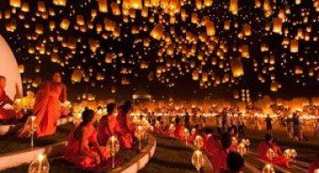 Festivalul lampioanelor din Thailanda, noiembrie 2012