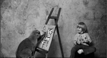 Prietenia dintre o fetita si pisica ei, de Andy Prokh