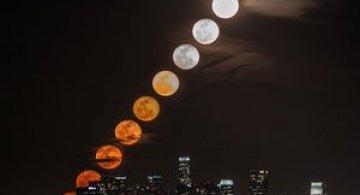 Video: Rasarit de luna plina peste Los Angeles