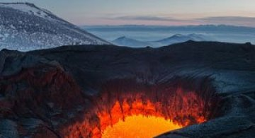 Calatorie spre varful vulcanului, in Rusia