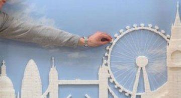 Orizontul Londrei, sculptat in zahar
