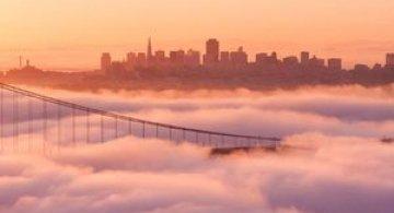 Frumusetea cetii peste San Francisco