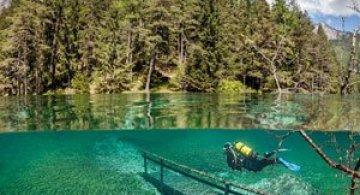 Parcul scufundat din Austria