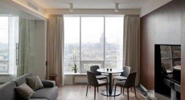 Apartament cu vedere panoramica la Moscova