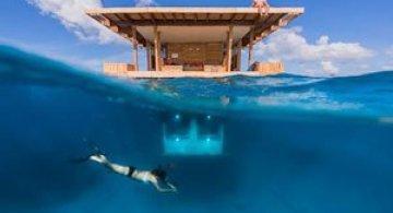 Statiune africana, cu dormitor sub ape