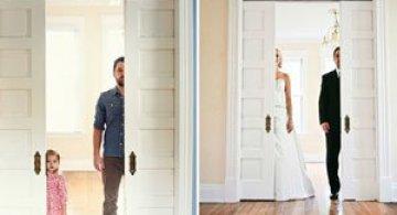 In memoriam: Tatal si fiica recreeaza fotografiile de nunta
