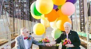 61 de ani de casnicie, aniversati in stilul Up!