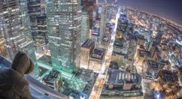 Toronto inghetat, vazut de pe zgarie-nori