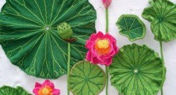Flori tricotate incredibil de veridice la Gradina Botanica!