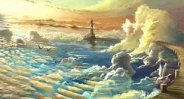 Ceruri spectaculoase, pictate de Alexander Rommel