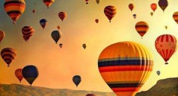 Cu balonul peste Cappadocia