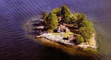 O insula privata, numai pentru artisti