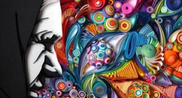 Arta multicolora din hartie, de Yulia Brodskaya