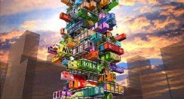 Proiect de hotel din containere multicolore
