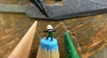 Cele mai mici sculpturi in mina de creion