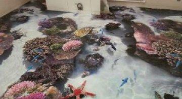 Cu oceanul la picioare: Podele 3D inspirate din mediul acvatic