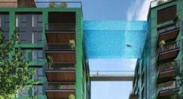 Plutind deasupra Londrei, in prima piscina suspendata, din sticla, din lume