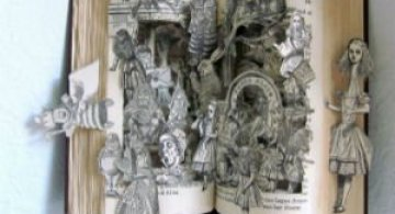 Sculptura in carti vechi: Arta care da o noua viata batranelor pagini