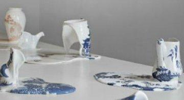 Balti de portelan: Piese din ceramica topite iscusit