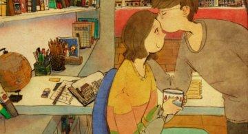 Marea dragoste, in gesturi marunte: 13 Ilustratii duioase