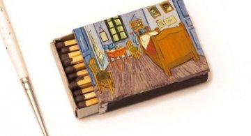 Van Gogh, pe cutii de chibrituri, in picturi miniaturale
