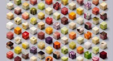 Cuburi comestibile pentru perfectionisti
