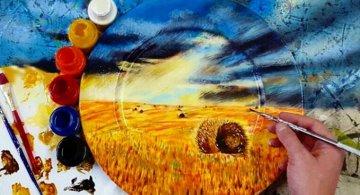 Pictura pe farfurii, cu Jacqueline Poirier