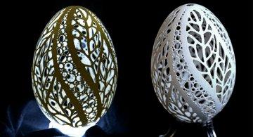 Maretia sculpturii in coaja de ou