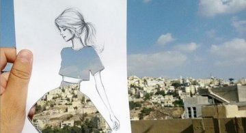 Moda cu nori si cladiri, de Shamekh Bluwi