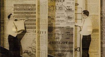 Colaje din ziare si carti, de Martijn Hesseling