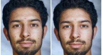 Goi in fata fotografului: Mimica oamenilor dezbracati