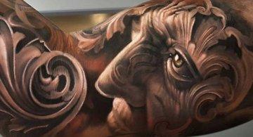 Tatuaje impresionante suprarealiste, de Alro DiCristina